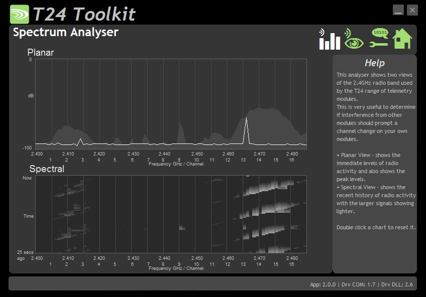Spectrum Analyser software screenshot