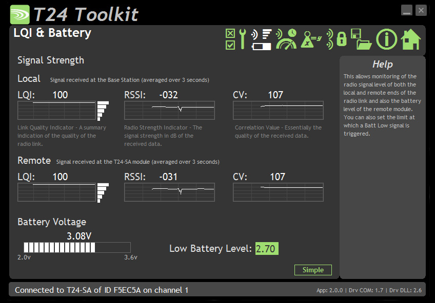 battery software screenshot