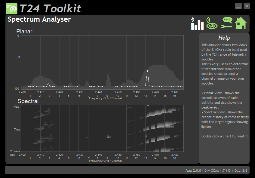 Spectrum Analyser software screenshot